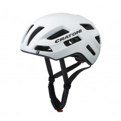 kask row Cratoni Speedfighter Perf roz M L 57 61cm bialy mat