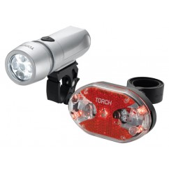 Zestaw lampki TORCH CYCLE LIGHT SET HIGH BEAMER WHITE 5X + TAIL BRIGHT 5X (DWZ)