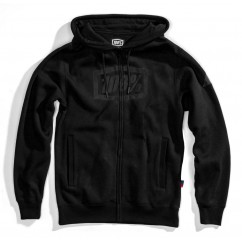 Bluza męska 100% SYNDICATE Hooded Zip Sweatshirt Black Black