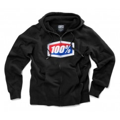 Bluza męska 100% OFFICIAL Hooded Zip Sweatshirt Black