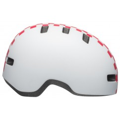 Kask dziecięcy BELL LIL RIPPER checkers matte white pink roz. XS (45–52 cm)