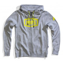 Bluza męska 100% SYNDICATE Hooded Zip Sweatshirt Grey Heather