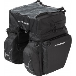 Sakwa na bagażnik Kross ROAMER TRIPLE REAR BAG czarna