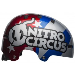Kask bmx BELL LOCAL nitro circus gloss silver blue red