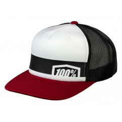 Czapka z daszkiem juniorska 100% QUEST Trucker Hat Brick (NEW)