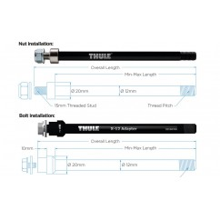 adapter osi Thule Syntace X 12 M12x10