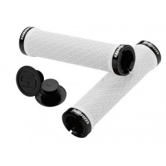 chwytyLocking Sram bialy z Double Clamps End Plugs