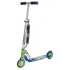 City Skuter Big Wheel Hudora Alu 5 125 zielony niebieski 125mm